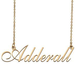 Custom Personalized Adderall Name Necklace